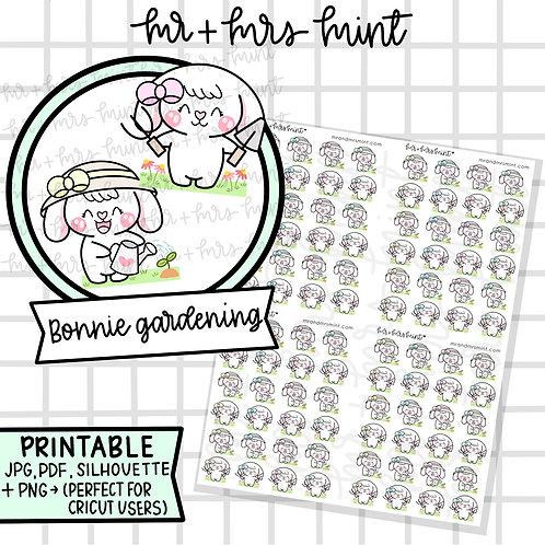 Bonnie Gardening | Printable