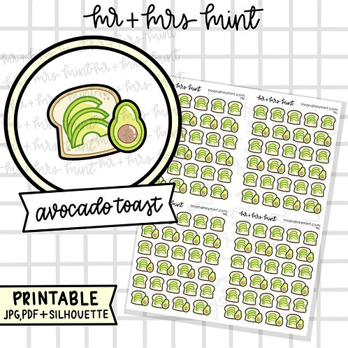 Avocado Toast | Printable