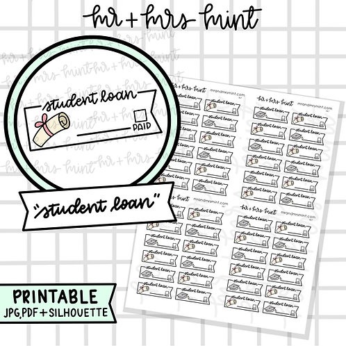 Student Loan | Printable
