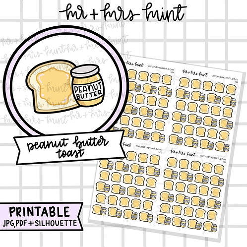 Peanut Butter Toast | Printable
