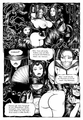 THE SPIDER GARDEN 13 Original Comic Book Page
