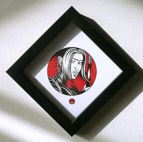 NIBELUNGEN ICON: BRUNHILD Framed Print