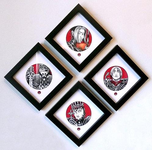 NIBELUNGEN ICON SET 01 -  Framed Prints