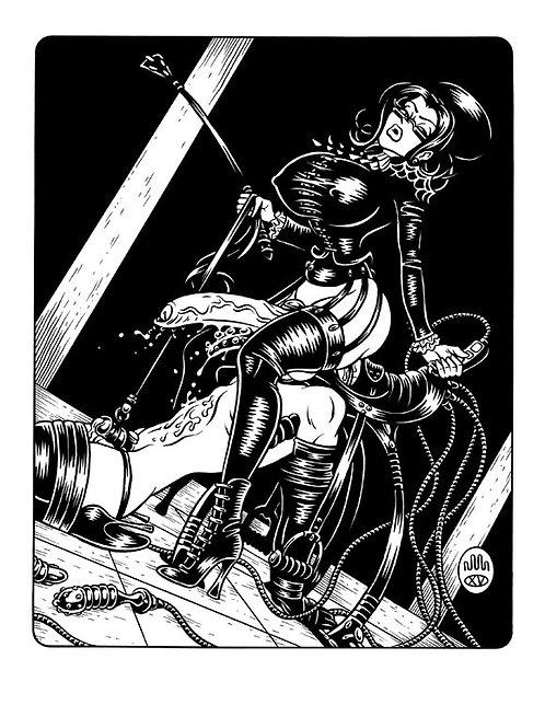 FUTANARI MISTRESS: SADDLE Original Artwork