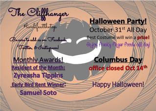 Our october Calendar & Cliffhanger!