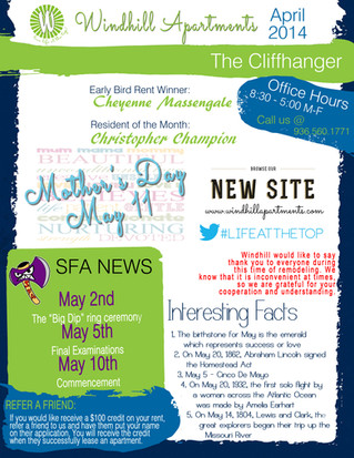 This Month's Cliffhanger!