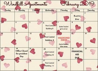 Our February 2019 Calendar & Cliffhanger!