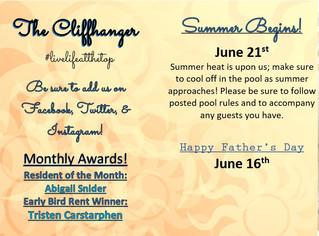 Our June 2019 Calendar & Cliffhanger!