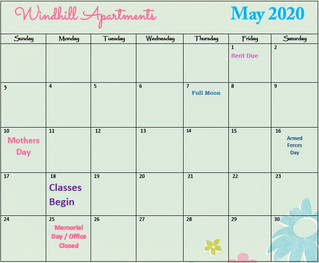Our May Calendar & Cliffhanger!