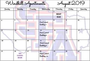 Our August Calendar & Cliffhanger!
