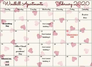 Our February Calendar & Cliffhanger!