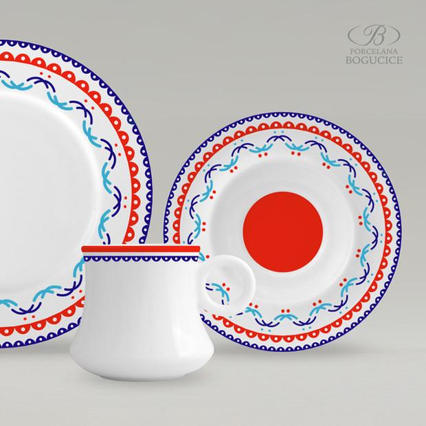 projekt zdobień porcelany: Stanisław Hadyna, Tadeusz Sygietyński