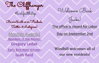 Our September Calendar & Cliffhanger!
