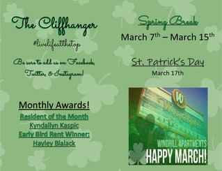 Our March Calendar & Cliffhanger!🍀🍀
