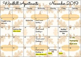 Our November Calendar & Cliffhanger!