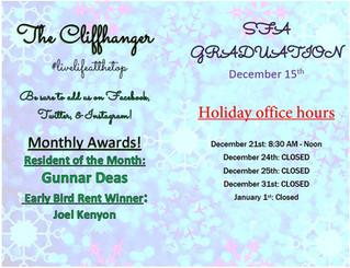 Our December Cliffhanger & Calendar!