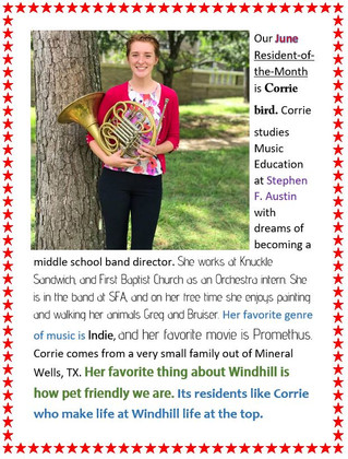Our June Resident of the month!