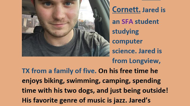 Our November Resident of the Month is Jared!