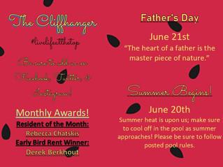 Our June Calendar & Cliffhanger!
