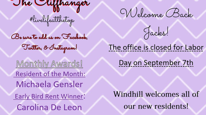 Our September Calendar & Cliffhanger!🤩💜