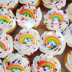 Special order of these beauties🌈 #cupcakes #homemade #pastries #rainbow #njfood #yum #manvillenj #b