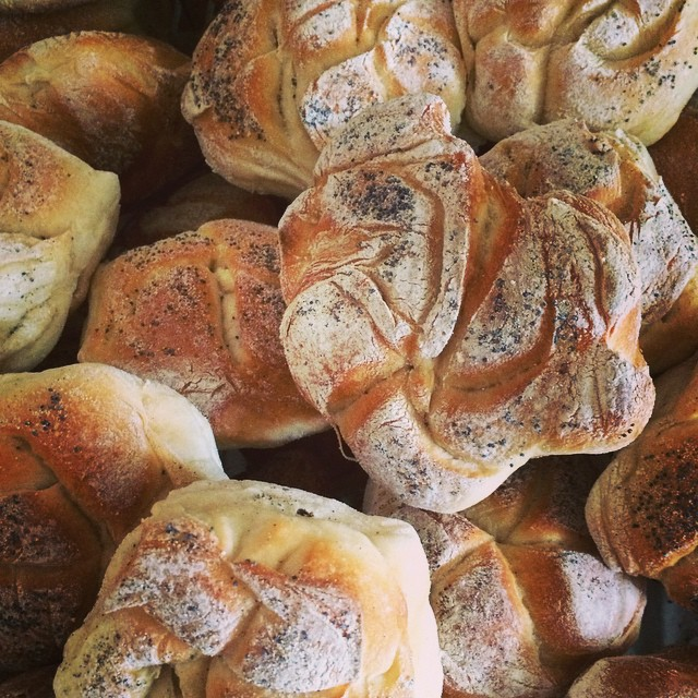 Right out of the oven, freshly baked hard #rolls making these beauties since 1966 #kaiserrolls #brea