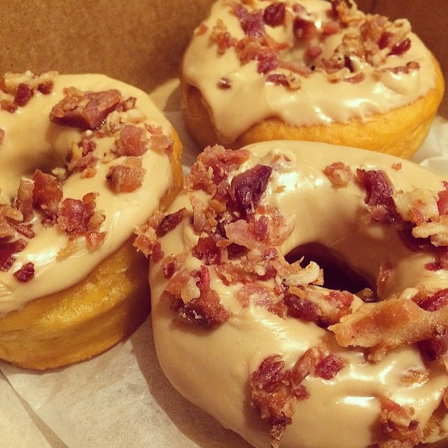 We 🍩 care it's Friday! #njbakery #maplebacon #bakerylife #donuts #bacon #yum