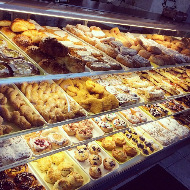 Can you get enough of all this goodness_ #donuts #buns #danish #muffins #croissants #coffeecake #sat