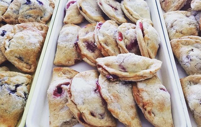 Cherry, Blueberry & Apple Fruit Flips! #njfood #bakerylife #homemade #manvillenj #yum #pastry #bakin