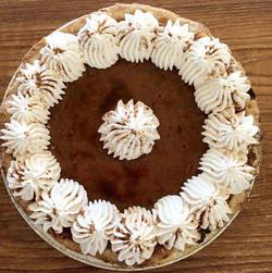Keep calm & pie on this holiday season! #pumpkinpie #pastries #njfood #thanksgiving #yum #njeats #pi