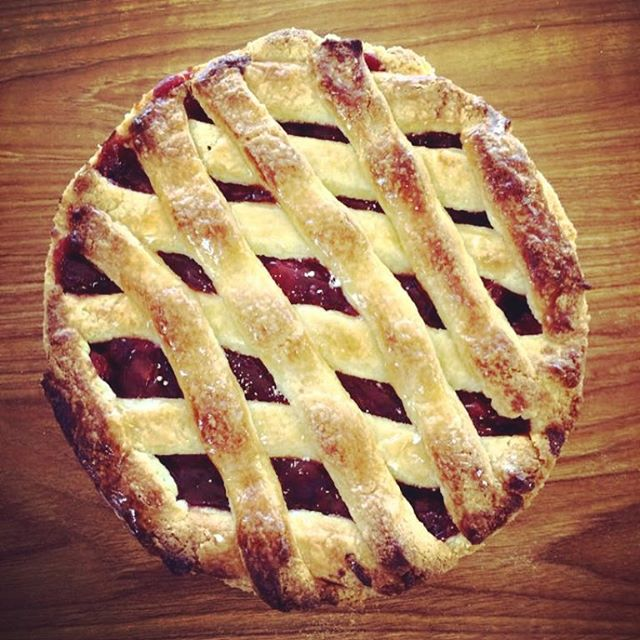 Enjoying this delicious 🍒 pie today! #nationalpieday #bakery #pastries #njeats #njbakery #yum_