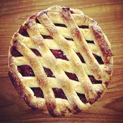 Enjoying this delicious 🍒 pie today! #nationalpieday #bakery #pastries #njeats #njbakery #yum_