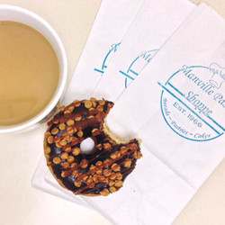 #Fridays can't get much better than this ☕️🍩 treat yourself to a delicious cup of #coffee or someth