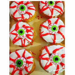 Come in and get our #spooky #Halloween treats! #donuts #frosting #friday