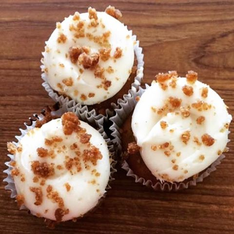 Carrot cake cupcakes with homemade cream cheese icing! #cupcakes #carrotcake #njbakery #homemade #yu