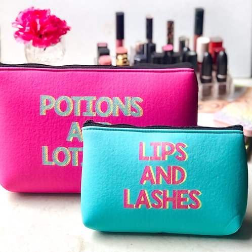 Lips & Lashes Essential Pouch Set