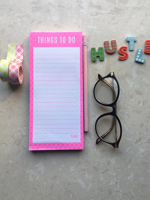 To Do list with Magnet - Pink