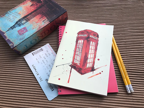 Phone Booth - Binded Notebook