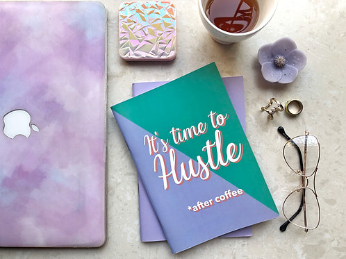 It's Time to hustle binded notebook