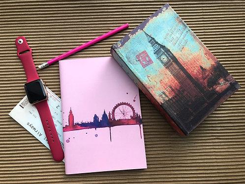 Pink Skyline - Binded Notebook