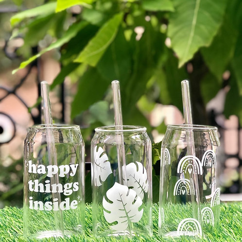 Set of 3 - Can Glass