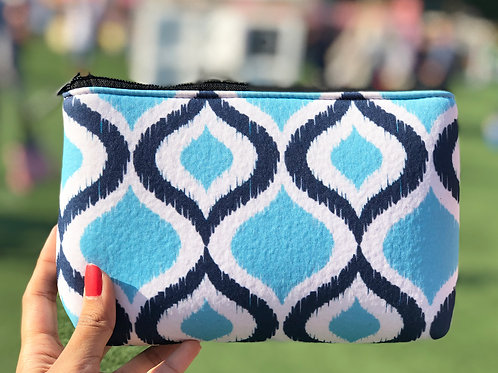 Ikat Blue - Makeup Pouch