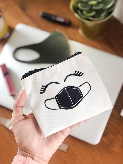 Canvas Mask Pouch