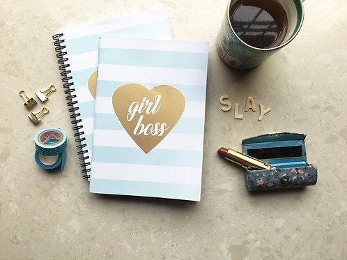 Girl Boss Gold Notebook Binded