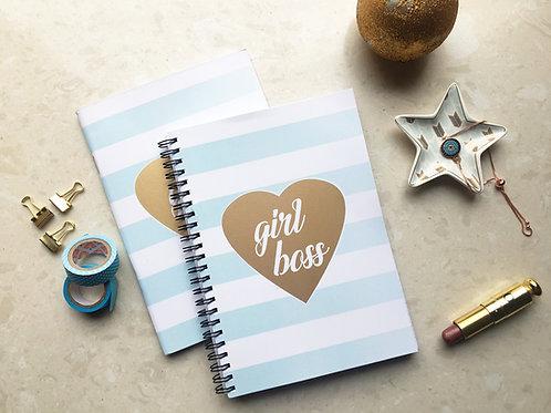 Girl Boss Gold Notebook Spiral