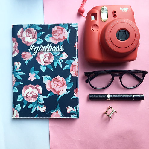 Girl Boss Floral Notebook