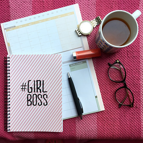 Girl Boss- Spiral Notebook