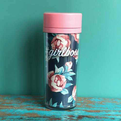 Girl Boss Floral Tumbler