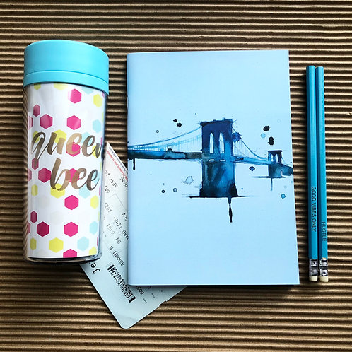 Blue Skyline - Binded Notebook