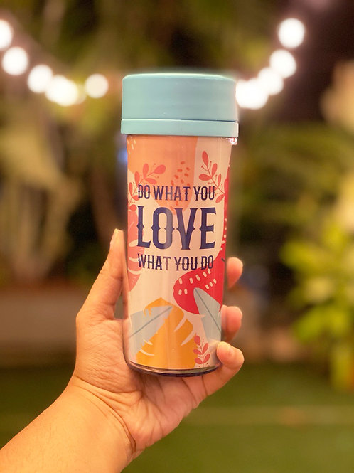 Do what you love Blue Tumbler